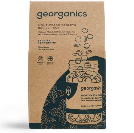 Imagen de Georganics Enjuague Bucal en Tabletas, Menta - REFILL 720 tabletas (caja cartón)
