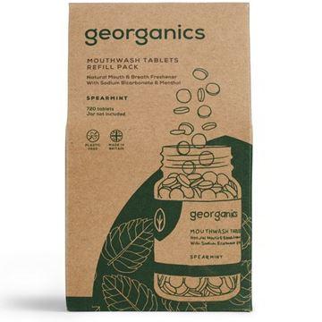 Imagen de Georganics Enjuague Bucal en Tabletas, Hierbabuena - REFILL 720 tabletas (caja cartón)