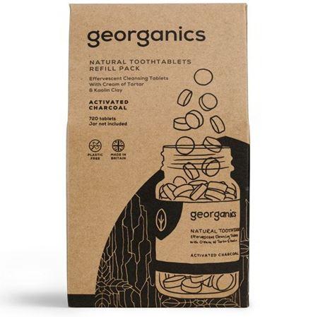 Imagen de Georganics Dentífrico en Tabletas, Carbón Activado y Menta- REFILL 720 Tabletas (caja cartón)