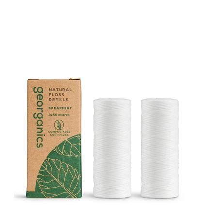 Imagen de Georganics 2 Recambios Hilo Dental Vegano Biodegradable - Hierbabuena 2x50metros