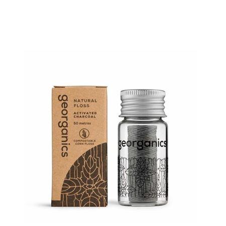 Imagen de Georganics Hilo Dental Vegano Biodegradable - Menta y Carbón 50metros