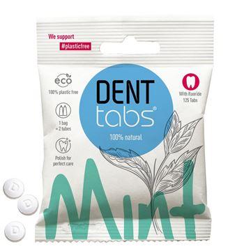 Imagen de DENTTABS Dentífrico Natural en Tabletas - Menta con flúor. 125 Tabletas