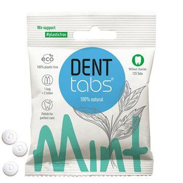 Imagen de DENTTABS Dentífrico Natural en Tabletas - Menta sin flúor. 125 Tabletas
