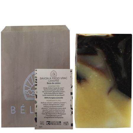 Imagen de BÉLICE Jabón Bio Relajante con Cacao y Cedro 100gr - SIN PACKAGING Incluye tarjeta y sobre.